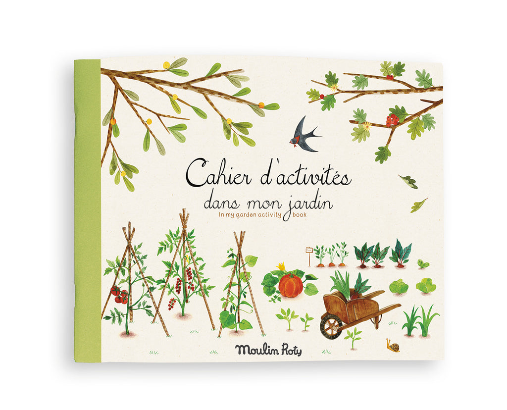 Moulin Roty Le Jardin colouring and activity book