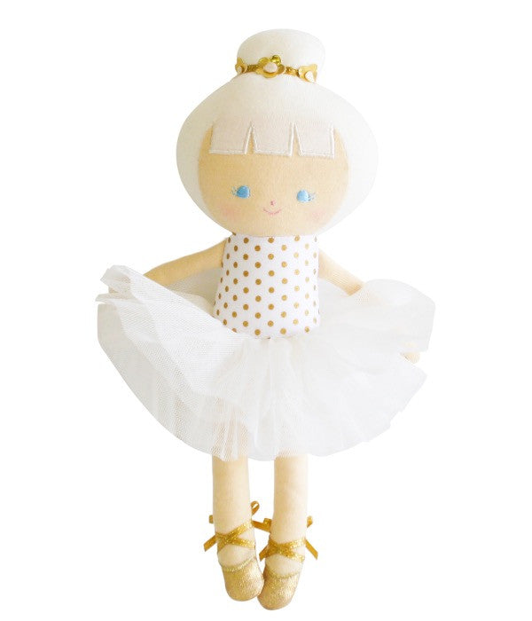 Alimrose Small Gold Ballerina Doll
