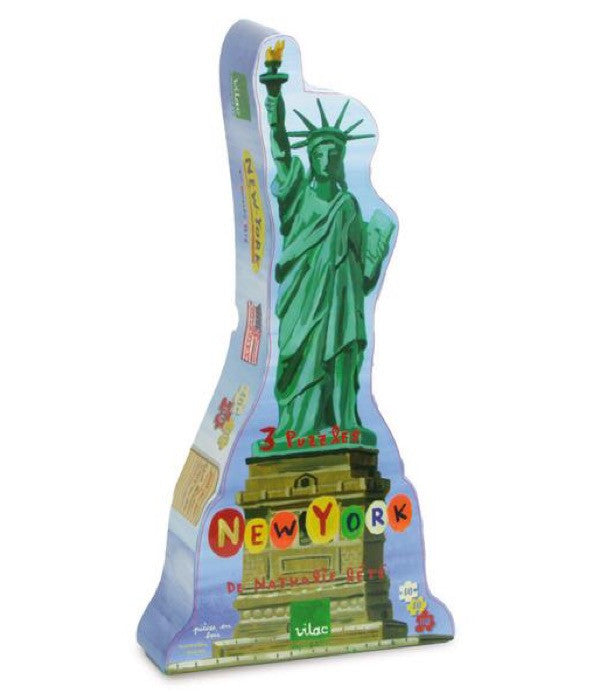 Vilac New York Wood Puzzles by Nathalie Lete (3-Puzzles)
