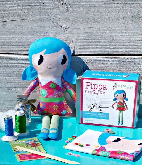 "Pippablue Sewing Kit ""Pippa"" Doll"