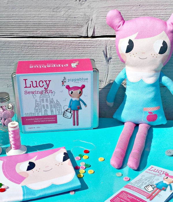 "Pippablue Sewing Kit ""Lucy"" Doll"