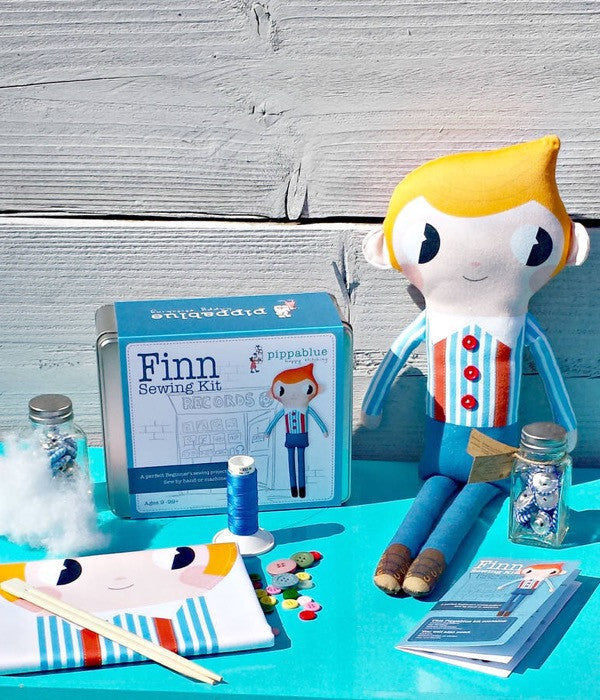 "Pippablue Sewing Kit ""Finn"" Doll"
