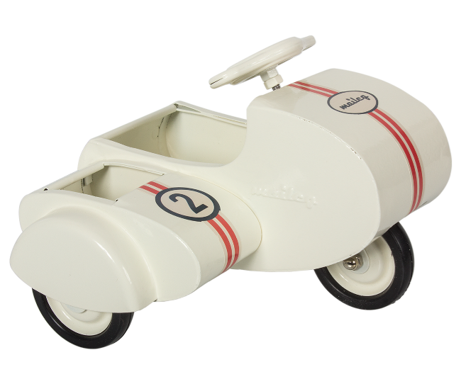 Maileg Metal Scooter with Sidecar - White