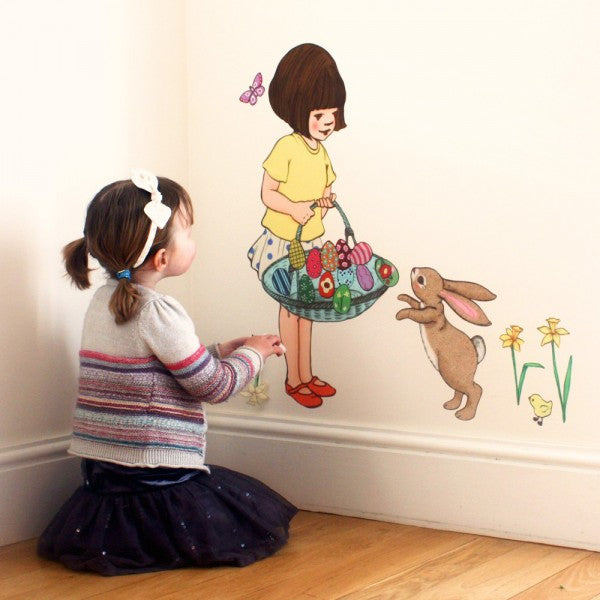 Belle's Basket Wall Sticker