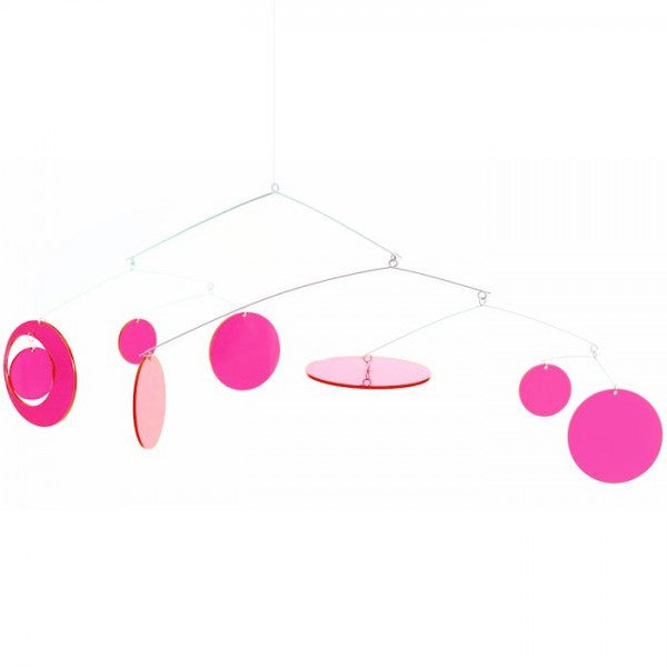 Neon Pink Fly Mobile