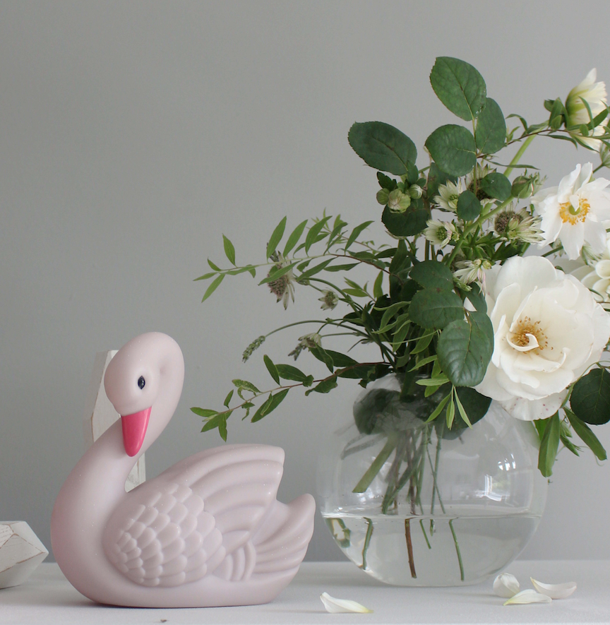 Swan Mini Night Light - Paris Blush