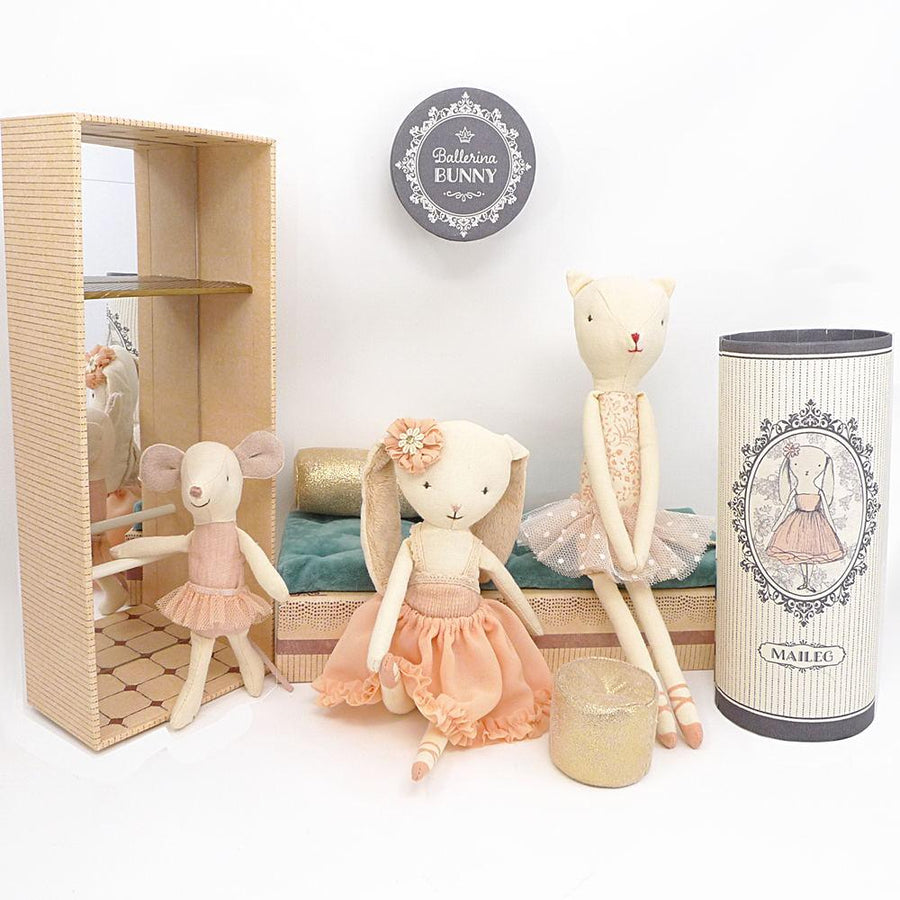 Dancing Cat and Mouse in Ballet Shoebox