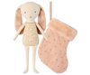 Maileg Bunny Angel in Stocking - Rose
