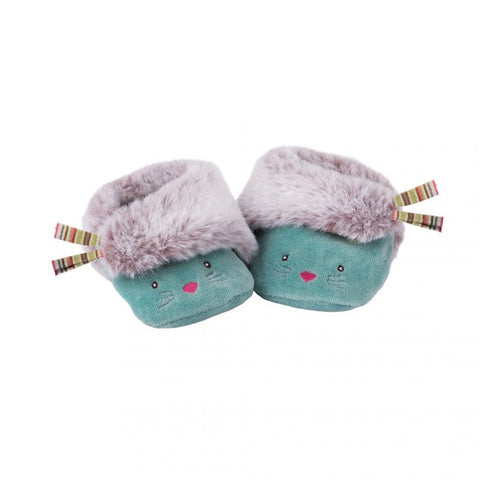 Blue Cat Baby Slippers