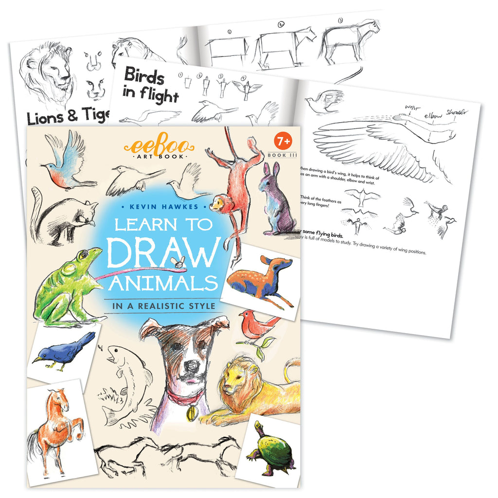 Eeboo - Learn to Draw Animals in a Realistic Style with Kevin Hawkes