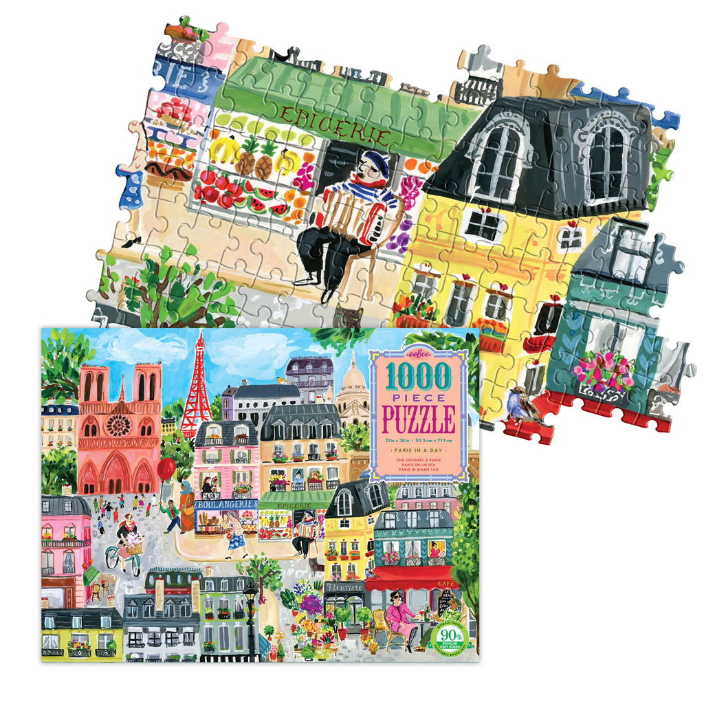 Eeboo - 1008 Piece Puzzle Paris