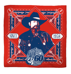 Charlie Daniels 60 Years of Making Music Red Bandana