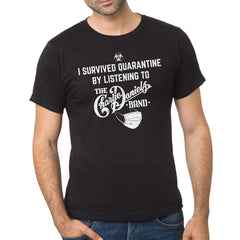 """I Survived Quarantine..."" Black Short Sleeve Tee"