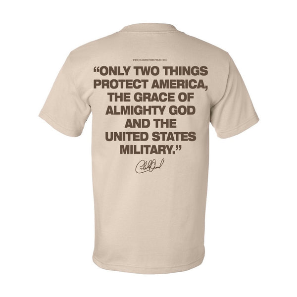 NEW! 2020 Desert Sand CDB Military Tee - Benefits The Journey Home Project