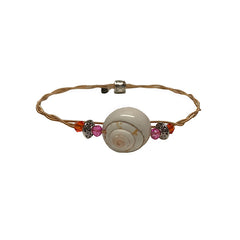 NEW! Women's Idle Strings Bracelet - Bronze Shell Pink/Orange Beads