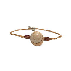 Women's Idle Strings Bracelet - Bronze Shell Brown Stones