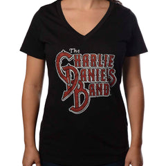 CDB Women's Vneck - Black/Red