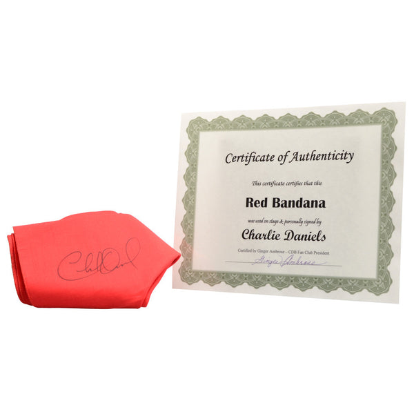 Autographed Red Bandana with COA