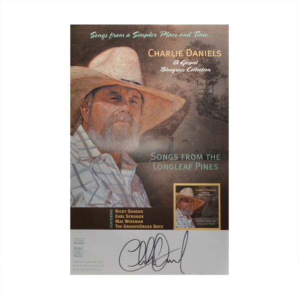 Autographed 'Songs From The Longleaf Pines' Poster