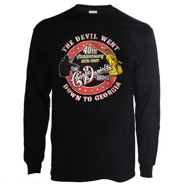 """The Devil Went Down To Georgia"" 40th Anniversary Long Sleeve T-Shirt"