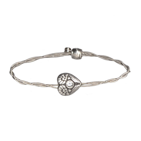 Women's Idle Strings Bracelet - Heart with Wings