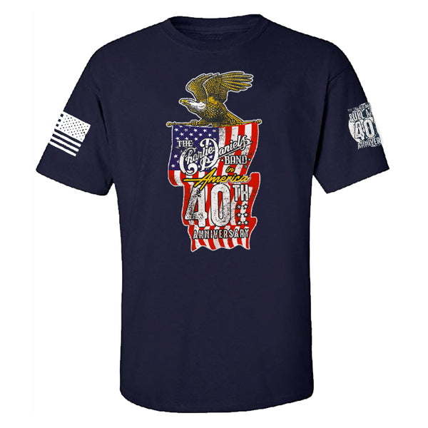 "NEW! Nine Line ""In America"" 40th Anniversary Navy Blue Tee"