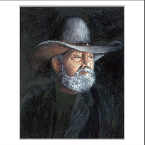 Charlie Daniels Portrait Print - Benefits The Charlie Daniels Journey Home Project