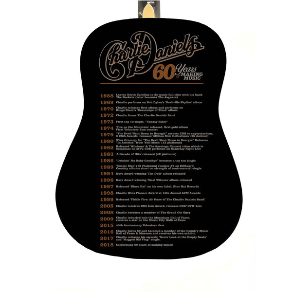 Charlie Daniels 60 Years of Making Music Limited Edition Autographed/Numbered Guitar