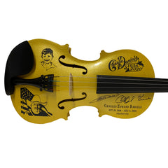 "INCLUDES AUTOGRAPHED BOOK! - Charlie Daniels Life Fiddle - Limited Edition Numbered ""Gold"" Fiddle"