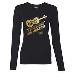 LAST FEW Long Sleeve Women's TDWDTG 40th Anniv. Gold Foil Tee