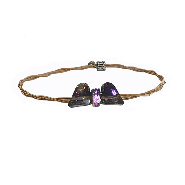 Women's Idle Strings Bracelet - Bronze Gem Heart Wings