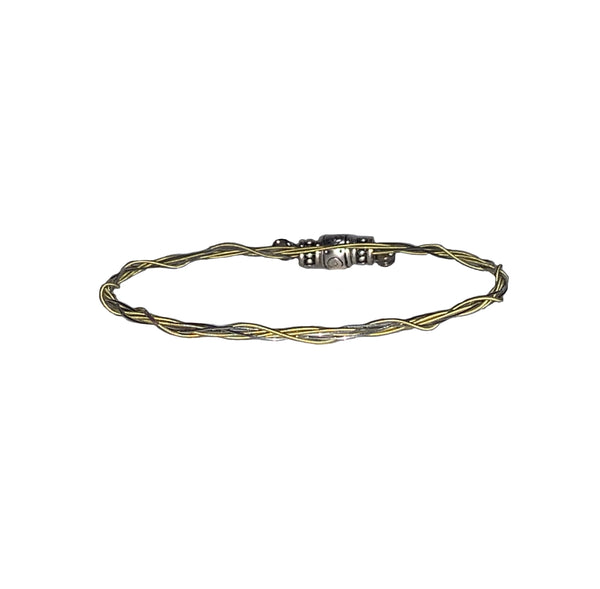 "NEW! Women's Idle Strings Bracelet - Silver and ""Gold"" w/3 Beads"