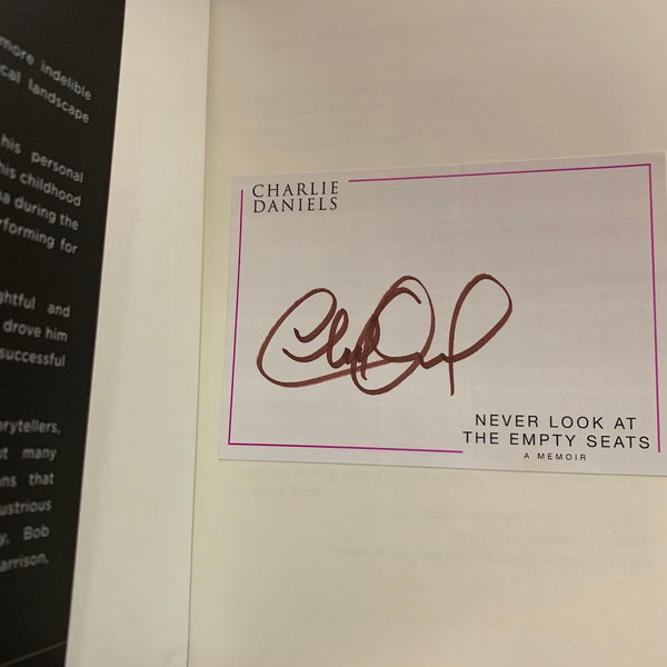 Autographed Never Look at the Empty Seats: A Memoir - Bookplate - Limit 2