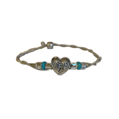 NEW! Women's Idle Strings Bracelet - Heart with Wings - Turquoise