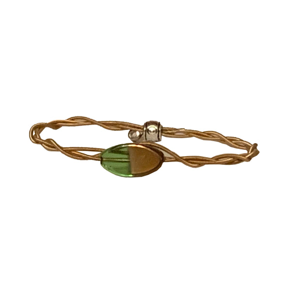 NEW! Women's Idle Strings Bracelet - Green/Bronze