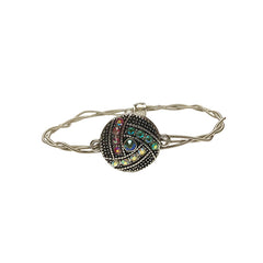 Women's Idle Strings Bracelet - Large Disc w/Rhinestones