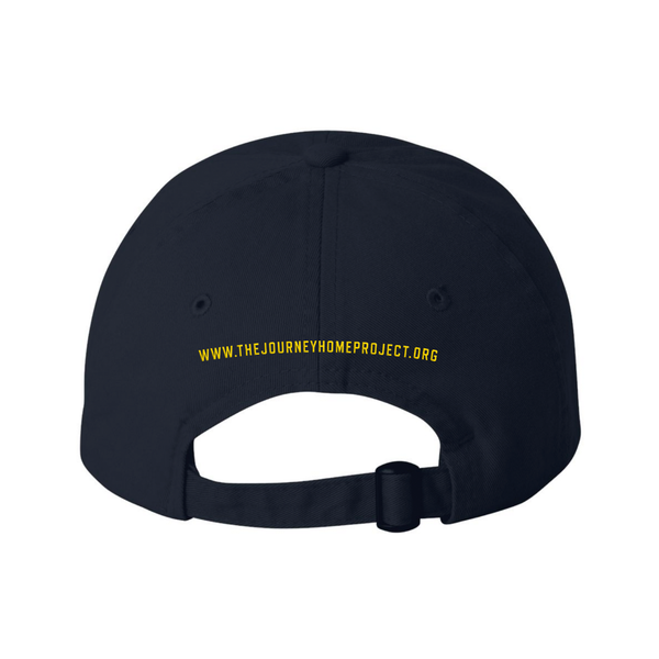 NEW! CDB Navy Blue/Gold Military Hat - Benefits The Journey Home Project