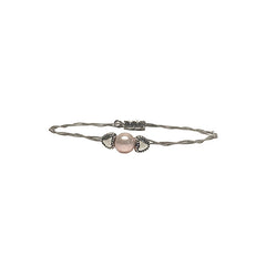 Women's Idle Strings Bracelet - Pink Pearl