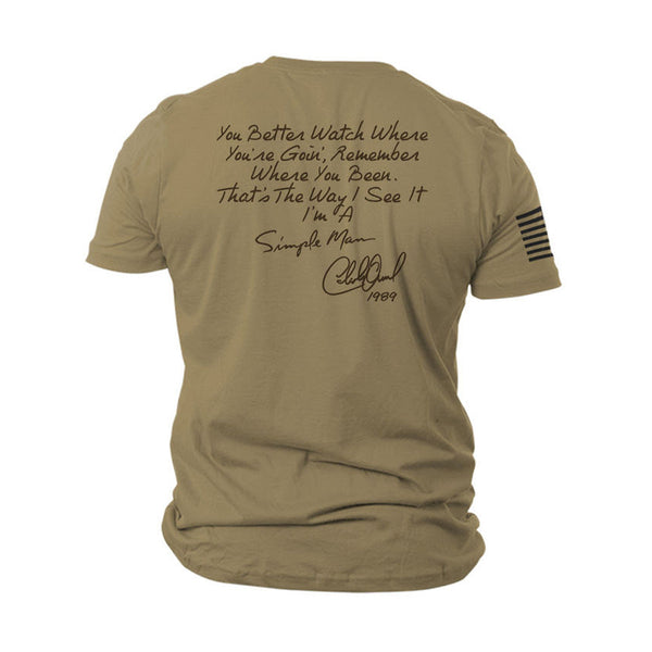 NEW! 9 Line Simple Man 30th Anniversary Tee