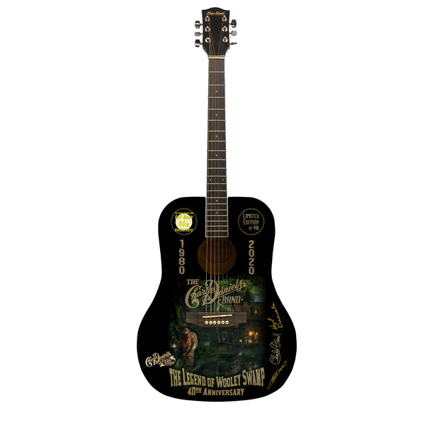 "INCLUDES autographed CD by Charlie and Taz - ""The Legend of Wooley Swamp"" Limited Edition Numbered Guitar"