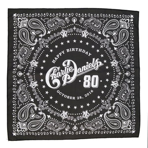Charlie Daniels 80th Birthday Black Bandana