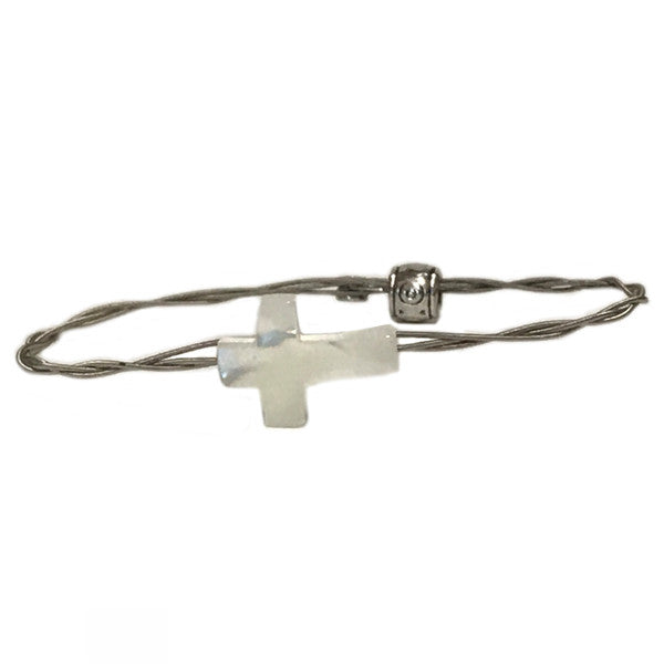 Women's Idle Strings Bracelet - Mother of Pearl Cross