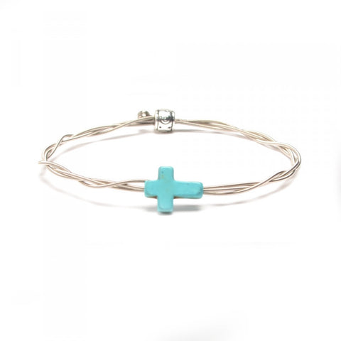 Women's Idle Strings Bracelet - Turquoise Cross
