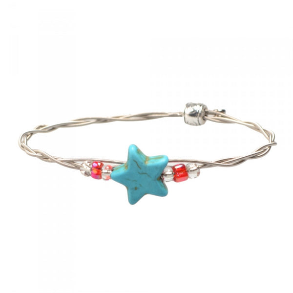 Women's Idle Strings Bracelet - Turquoise Star