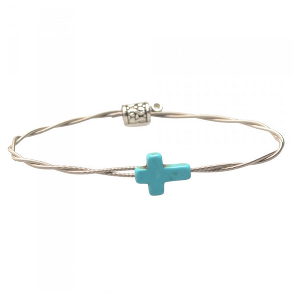 Men's Idle Strings Bracelet - Turquoise Cross