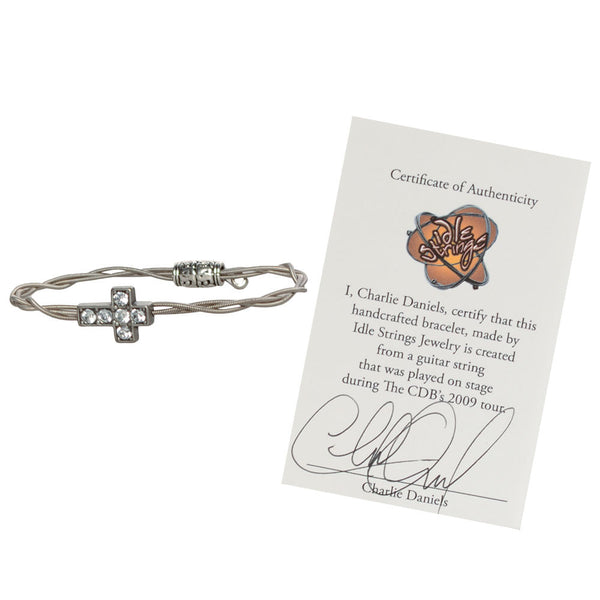 Women's Idle Strings Bracelet - Rhinestone Cross