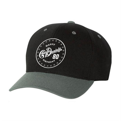 Charlie Daniels 80th Birthday Black/Grey Hat