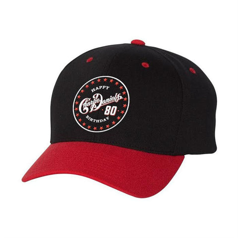Charlie Daniels 80th Birthday Black/Red Hat