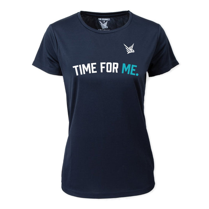 Time for Me. - French Navy - Running Tee
