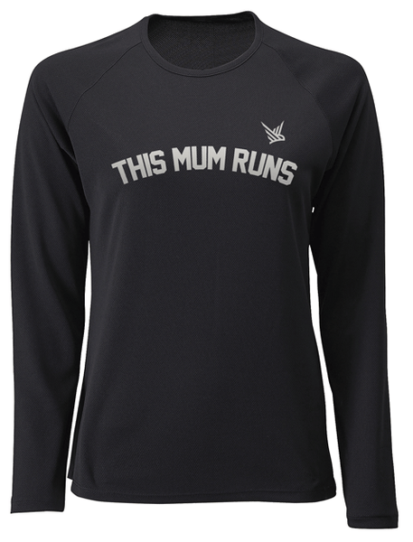 TMR Long Sleeved Running Tee - Black
